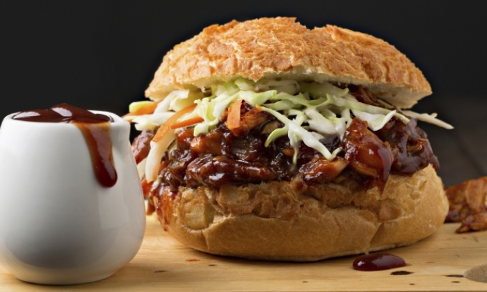 Crock Pot BBQ Shredded Chicken Sandwiches