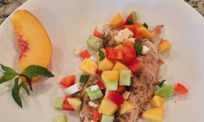 Grilled Chicken with Fresh Peach Salsa