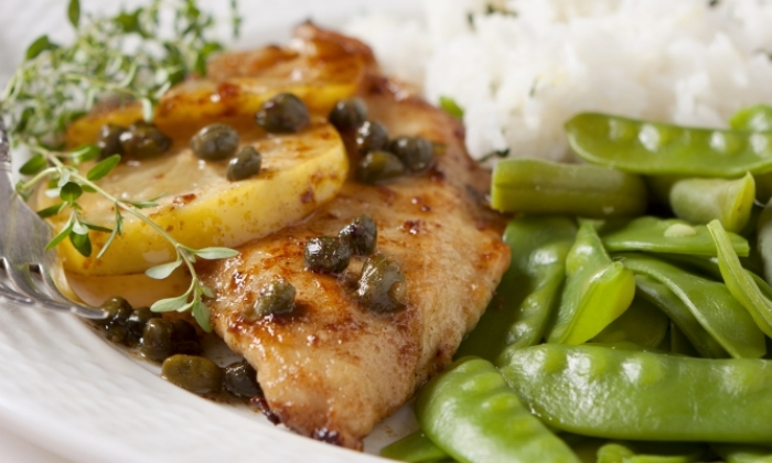 Lemon Chicken Piccata with Rice