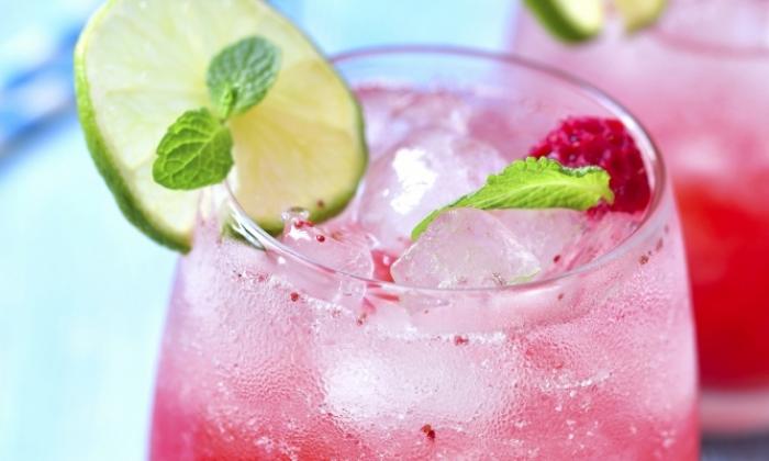 Sparkling Cran-Raspberry Punch
