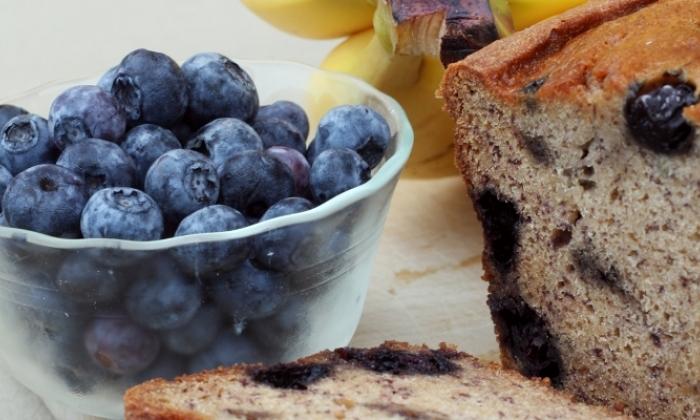 Blueberry Zucchini Banana Bread
